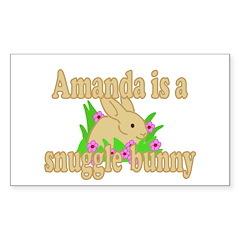 Amanda is a Snuggle Bunny Decal