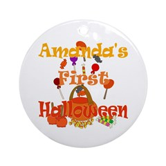 First Halloween Amanda Ornament (Round)