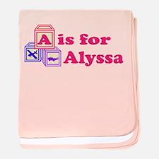 Baby Blocks Alyssa baby blanket