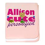 Cute Allison baby blanket