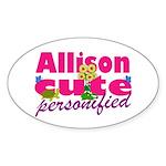 Cute Allison Sticker (Oval 50 pk)