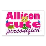 Cute Allison Sticker (Rectangle 50 pk)