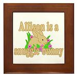 Allison is a Snuggle Bunny Framed Tile