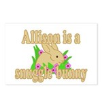 Allison is a Snuggle Bunny Postcards (Package of 8