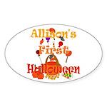 First Halloween Allison Sticker (Oval)