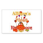 First Halloween Allison Sticker (Rectangle)