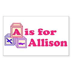 Baby Blocks Allison Decal