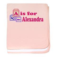 Baby Blocks Alexandra baby blanket