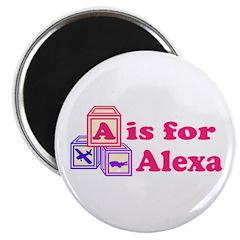 Baby Blocks Alexa Magnet