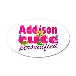 Cute Addison 38.5 x 24.5 Oval Wall Peel
