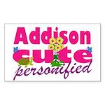 Cute Addison Sticker (Rectangle 10 pk)