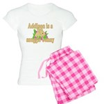 Addison is a Snuggle Bunny Women's Light Pajamas