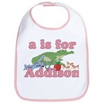 A is for Addison Bib