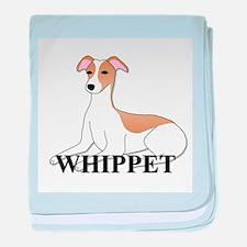 Cartoon Whippet baby blanket