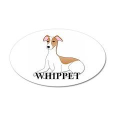 Cartoon Whippet 22x14 Oval Wall Peel
