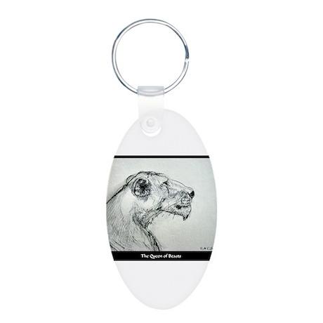 Wildlife, Lioness, Aluminum Oval Keychain