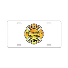 Firefighters Girlfriend Aluminum License Plate