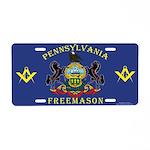 PA Freemasons Aluminum License Plate
