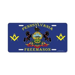 PA Freemasons Aluminum License Plate