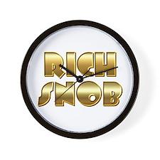 Rich Snob Wall Clock