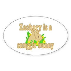 Zachary is a Snuggle Bunny Decal