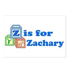 Baby Blocks Zachary Postcards (Package of 8)