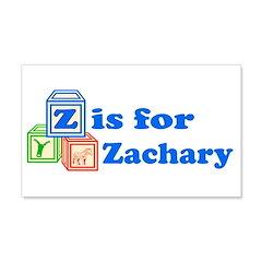 Baby Blocks Zachary 22x14 Wall Peel