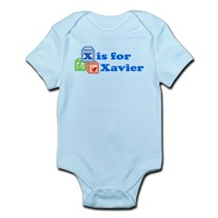 Baby Name Blocks - Xavier Infant Bodysuit