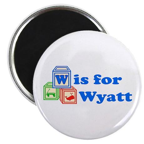 "Baby Blocks Wyatt 2.25"" Magnet (10 pack)"