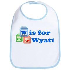 Baby Name Blocks - Wyatt Bib