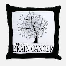 Brain Cancer Tree Throw Pillow