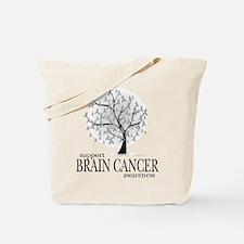 Brain Cancer Tree Tote Bag