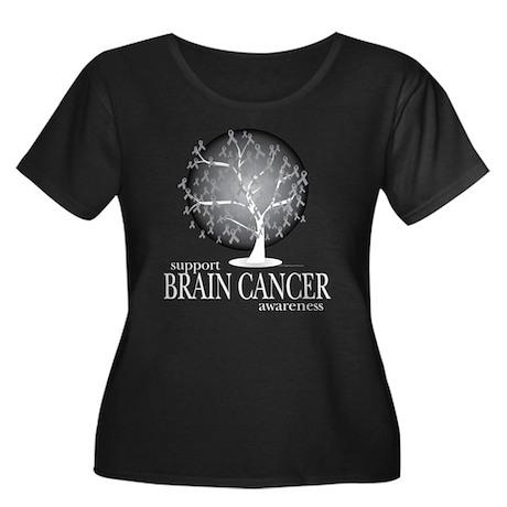 Brain Cancer Tree Women's Plus Size Scoop Neck Dar
