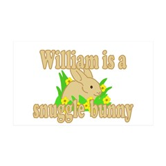 William is a Snuggle Bunny 38.5 x 24.5 Wall Peel