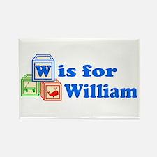 Baby Blocks William Rectangle Magnet