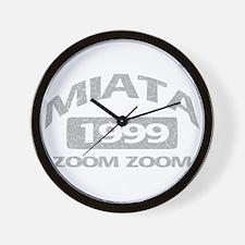 99 MIATA ZOOM ZOOM Wall Clock