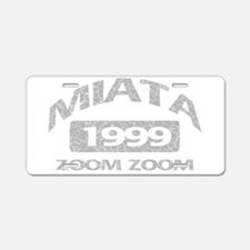 99 MIATA ZOOM ZOOM Aluminum License Plate