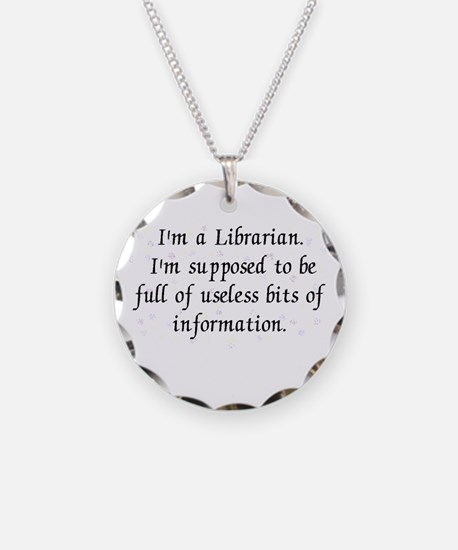 Useless bits of information Necklace Circle Charm
