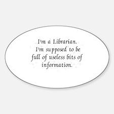 Useless bits of information Sticker (Oval)