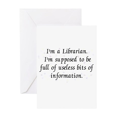 Useless bits of information Greeting Card