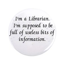 """Useless bits of information 3.5"""" Button (100 pack)"""