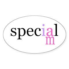 i am special Oval Sticker