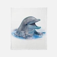 Happy Dolphin Throw Blanket