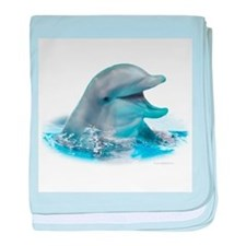 Happy Dolphin baby blanket