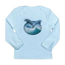 Waves of Dolphins Long Sleeve Infant T-Shirt