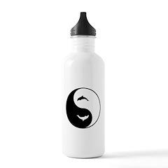 Yin Yang Dolphins Water Bottle
