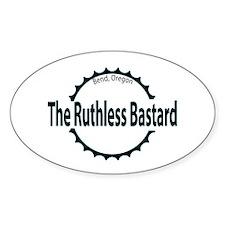 Ruthless Bastard Mt. Biker Oval Decal