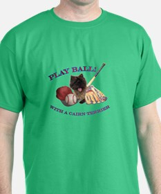 Cairn Terrier Baseball T-Shirt