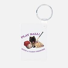 Cairn Terrier Baseball Keychains