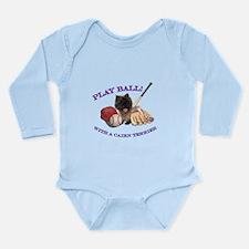 Cairn Terrier Baseball Long Sleeve Infant Bodysuit